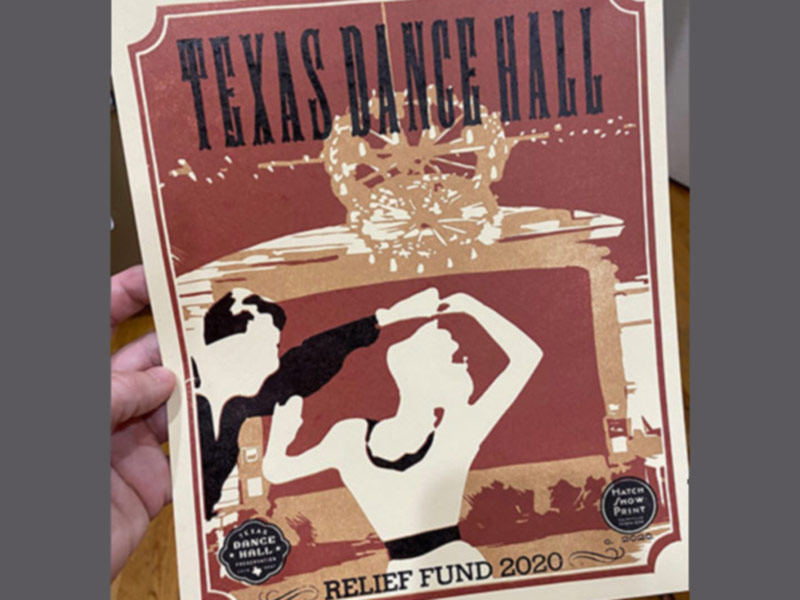 Texas Dance Hall Relief Fund Poster